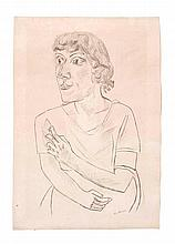 Beckmann, MaxSarika mit Zigarette. 1922.