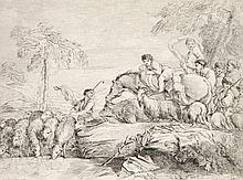 Sammlung von 8 Graphiken, überwiegend Kupferstiche. 18./19. Jh. Verschiedene Formate von 17,6 x 8 cm bis 33 x 48,6 cm.