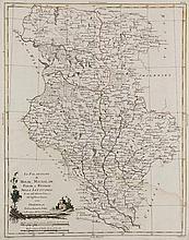 Carte de Moscovie. Dressée par G. de L'Isle. Altkolor. Kupferkarte. 51 x 61,5 cm. Amsterdam, Mortier, ca. 1710.
