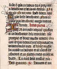 Stundenbuchblatt auf Pergament. Mit 8 goldgehöhten