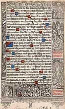 Stundenbuchblatt auf dünnen Pergament.