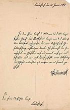 2 eigenhändige Briefe des Fürsten Otto von