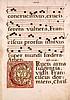 Blatt einer lateinische Handschrift auf Bütten mit