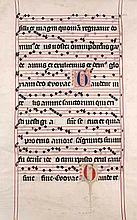 Antiphonar. Blatt einer lateinische Handschrift