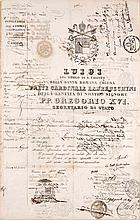 Passdokument für Luigi Lambruschini. 1840. Ca. 51