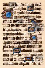 Stundenbuchblatt auf Pergament. Mit 13