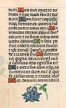 Stundenbuchblatt auf dünnen Pergament. Mit 12 gold