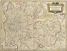 Monasteriensis Episcopatus. Kol. Kupferstichkarte von J.M. Gigas. Amsterdam, Blaeu, um 1640. Plattenmaße ca. 37,5 x 49,5 cm.