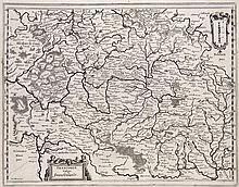 Franconia vulgo Franckenlandt. Kupferstichkarte von Matthäus Merian aus