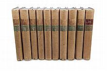 Shakespeare, William  Sämtliche Werke. 10 Bde. München, Müller 1925-1929. Kl.-4°. Lwd. mit goldgeprägtem Deckel u. RTitel (leicht berieben und beschabt, etw. fleckig).