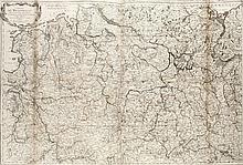 Cercle de Westphalie. Divisée en ses Etats particuliers ... Grenzkol. Kupferstichkarte nach Homannn. Paris, Crepy, dat. 1757. Blattmaße ca. 65 x 95 cm.