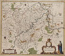 Archiepiscopatus Trevirensis. Teilkol. Kupferstichkarte. Amsterdam, Janssonius, um 1640. Plattenmaße ca. 41,5 x 48,5 cm.