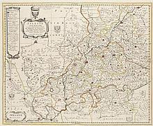Silesia Inferior. Grenzkol. Kupferstichkarte von J. Scultetus. Amsterdam, Schenk u. Valk, um 1720. Plattenmaße ca. 42 x 52 cm, Blattmaße ca. 56,5 x 67 cm.