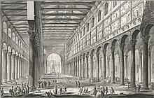 Piranesi, Giovanni Battista  Spaccato interno della Basilica di S. Paolo fuori delle Mura ... Ra