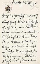 Mecklenburg-Schwerin, Herzöge von  Sammlung von inhaltsreichen Briefen des Hauses der Herzöge vo