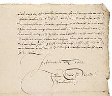 Mecklenburg-Schwerin, Herzöge von  Johann Graf zu Saarbrücken an seinen Sohn. Kurrentschrift auf