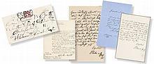 Umfangreiche historische Autographensammlung. Ca. 90 Exponate.