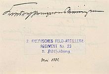 Haus Württemberg  Sammlung von 2 inhaltsreichen Briefen von Prinz Wilhelm von Württemberg (seit