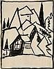 Münter, Gabriele  Landschaft. Nach 1910. Tusche auf Velin (mit Wasserzeichen