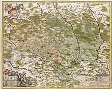 Lusatiae Superioris. Kol. Kupferstichkarte nach J.G. Schreiber. Nürnberg, Homann, 1732. Platt