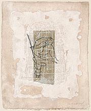 Brisson, Pierre-Marie  Nackte, gebeugt. Carborundum-Radierung auf kräftigem handgeschöpftem Bütt