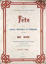 Souvenirs de la Fete Donnee le 26 septembre 1848 par le Cercle artistique et litteraire sous