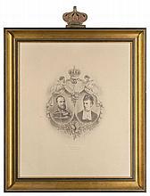 Porträt von Kronprinz Ernst August von Hannover, Herzog von Cumberland, mit Prinzessin Thyra