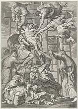 Cecchi, Giovanni Battista  Krauzabnahme Christi. Kupferstich nach Daniele da Volterra Ricciarell
