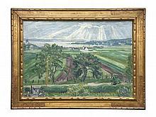 Balwé, Arnold  Blick auf die Bucht von Herrsching (Ammersee). 1928. Öl auf Leinwand. 60 x 85 cm.