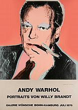 Warhol, Andy  Portraits von Willy Brandt. 1976. Plakat zur Ausstellung bei der Galerie Wünsche B