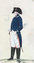 Preussische Armee-Uniformen unter der Regierung Friedrich Wilhelm II. Konvolut von 70 altkolorierten Kupfertafeln, gestochen von L. Schmidt. (Potsdam, ca. 1789). Lose Bll. unter Passepartout.