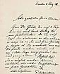 Kaulbach, Friedrich August von (Maler) Eigenhändiger Brief mit Unterschrift. 8. März 1912.