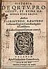 Raemundus, Florimundus Historia de ortu, progressu, et rhina haereseon huius saeculi. E allica lingua in Latinam conversa. 2 Tle. in 1 Bd. Mit 1 Druckermarke. Köln, Gerhard Grevenbruch, 1614. 614 S., 5 Bll., 638 (recte 639) S. blindgepr. HPgt. d. Zt.