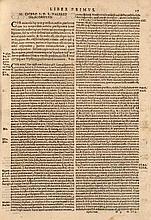Cicero, Marcus Tullius Familiarium Epistolarum Comentarii. Mit Holzschnitt Druckermarke u. Holzschnitt Buchschmuck. Venedig, Petrum Ricciardum, 1607. 4 Bll., 257 Bll. 4° Prgt. (leicht berieben u. fleckig).