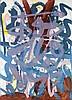 Biedermann, Wolfgang E Hora II. 1989. Kombinationsdruck (farb. übermalt) auf Hahnemühle-Büttenpapier. Blattgröße ca. 70 x 56 cm. Signiert und betitelt.