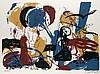 Böttger, Eckhrad o.T. (Hockender Akt). 1993. Farbserigraphie auf festem Velin. 50 x 70 cm (60 x 80 cm). Signiert, datiert und nummeriert. - Dekorativ unter Glas gerahmt.