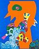 Alt, Otmar Birdland/Mondsophie. 1972/1971. Je Farbserigraphie auf Velin. 52 x 42 cm (74 x 62 cm) und 58,5 x 41,5 cm (76 x 58,5 cm). Je signiert, datiert und nummeriert. - 1 Blatt mit leichter Knickspur in der rechten unteren Ecke.