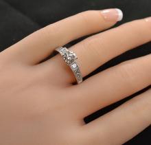 1.22 Carats t.w. Diamond Wedding/Anniversary Ring 18K Gold