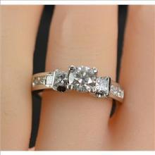 1.29 Carats t.w. Diamond Wedding/Anniversary Ring 14KYG