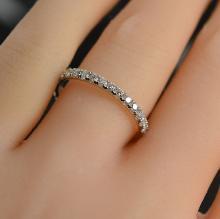 0.88 Carat t.w. Diamond Eternity Ring 14K White Gold