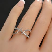 0.88 Carat t.w. Diamond Free Form Ring 14K White and Rose Gold