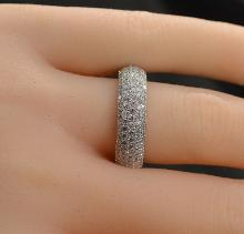 2.04 Carats t.w. Diamond 5 Row MicroPave Eternity Ring 14K Gold