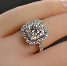 1.93 Carats t.w. Platinum Diamond Wedding/Anniversary Ring