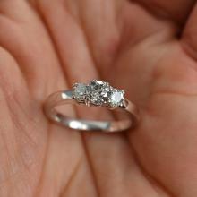 0.89 Carat t.w. Diamond Wedding/Anniversary Ring 14K Gold Brand New Center Diamond is 0.51 Carat