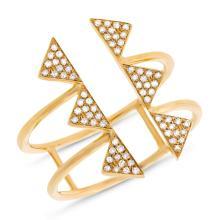 14K Yellow Gold Gorgeous Diamond Cocktail Ring