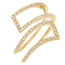 14K Yellow Gold 0.24 Ct t.w. Diamond Cocktail Ring