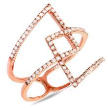 14K Rose Gold 0.30 Ct t.w. Diamond Overlap Cocktail Ring