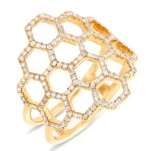 14K Yellow Gold 0.47 Ct t.w. Diamond Cocktail Ring
