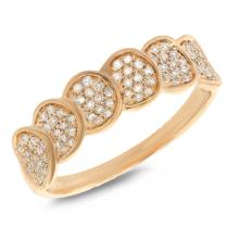 14K Yellow Gold Gorgeous Diamond Dinner Ring