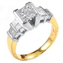 1.01 Carats t.w. Diamond Wedding/Anniversary Ring Center